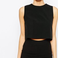 Boohoo Open Back Tailored Top at asos.com