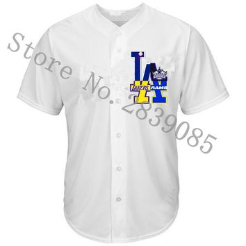 New Designs Summer Los Angeles Shirts, Stitched Custom LA Logo Dodgers/Lakers/Kings/Rams Team Player Any Name And Number Jerseys