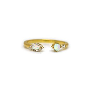 Opal & Diamond Bella Vie Ring