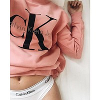 Calvin klein Jeans Fashion Long Sleeve Pullover Sweatshirt Top Sweater