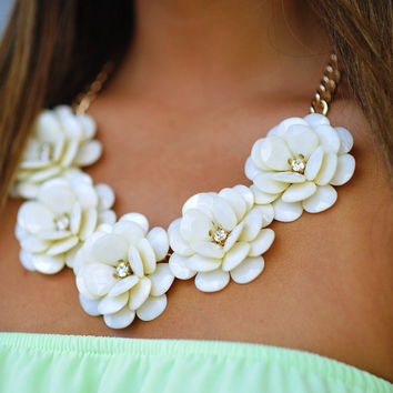 Picked For You Necklace: Ivory | Hope's