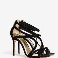 Suede wrap around gladiator sandals - Black | Shoes | Ted Baker
