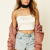 Satin Cropped Cami