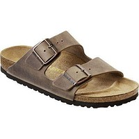 Men's Arizona Sandal in Oiled Tobacco Brown leather with Soft Footbed by Birkenstock