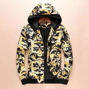 onetow One-nice? Versace Women Men Hoodie Long Sleeve Cardigan Jacket Coat I-A00FS-GJ