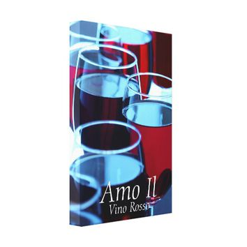 Red Wine Photograph Canvas Wall Art