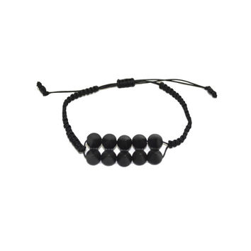Black Double Spike Bracelet