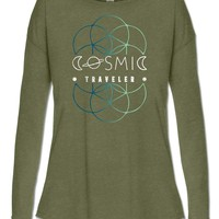 NEW! Cosmic Traveler Long Sleeve Slouch Top