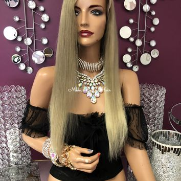 Dark Ash Blonde Full Lace Wig 18"