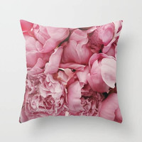 Pink Flowers Throw Pillow, Flowers Throw Pillow, Pink Pillow, Floral Throw Pillow, Floral Bedroom Decor, Flower Bedroom, Pink Flower Pillow