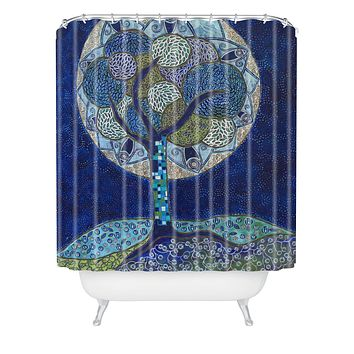 Ruby Door Moon In Bloom Shower Curtain