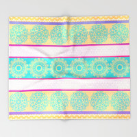 Summer Festival Throw Blanket by Octavia Soldani | Society6
