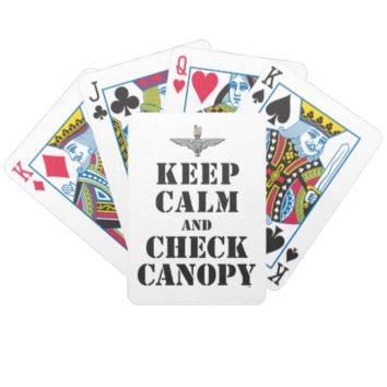 PARACHUTE REGIMENT - KEEP CALM AND CHECK CANOPY BICYCLE PLAYING CARDS