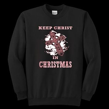 Women's Keep Christ in Christmas Sweatshirt