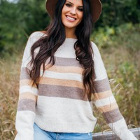 Fall Vibing Sweater- Ivory