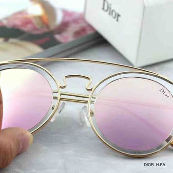 Dior Trending Ladies Delicate And Cabinet Summer Sun Shades Eyeglasses Glasses Sunglasses Pink I-A-SDYJ