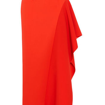 Solace London - Kaya asymmetric belted charmeuse maxi skirt