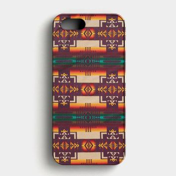 Pendleton Maroon Chief iPhone SE Case