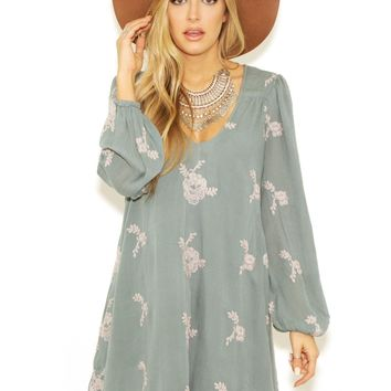 Free People Emma Dress in Misty Teal
