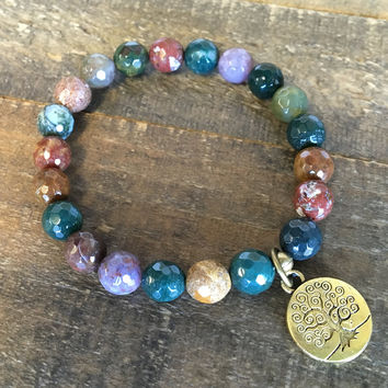 Faceted Fancy Jasper 'Protection' Bracelet