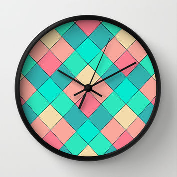 Candy Squares Wall Clock by Shannon Clark Photo & Art