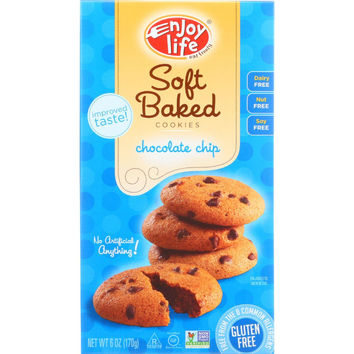 Enjoy Life Cookie - Soft Baked - Chocolate Chip - Gluten Free - 6 Oz - Case Of 6