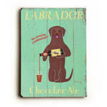 Labrador Ale by Artist Ken Bailey Wood Sign