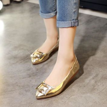 Pointed Toe Ballet Flats Shoes 8920