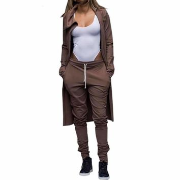 Brown Top And Pants Tracksuit Set