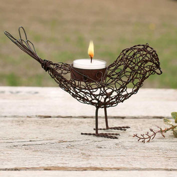 Wire Bird Tea Light Holders - Set of 4