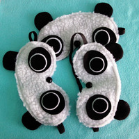 Panda Sleepmask - Fuzzy Fleece Sleep Mask
