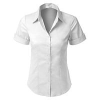 Short Sleeve Button Down Shirt with Stretch
