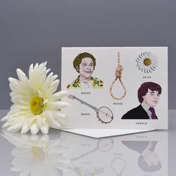 """Harold and Maude"" Field Guide Greeting Card"