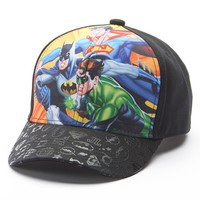 DC Comics Justice League Baseball Hat - Boys 8-20, Size: One Size (Black)