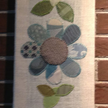 3 Flowers #1 Fabric Wall Art