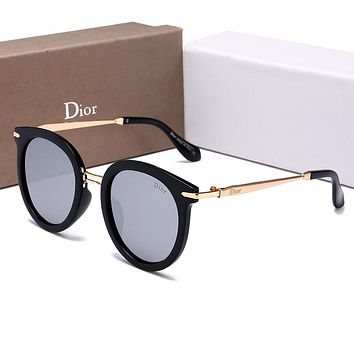 Dior Stylish Women Summer Sun Shades Eyeglasses Glasses Sunglasses Grey I-HWYMSH-YJ