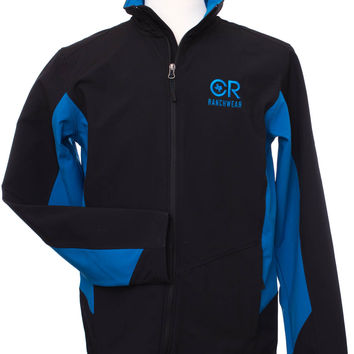 Men's Black and Imperial Blue Soft Shell Jacket