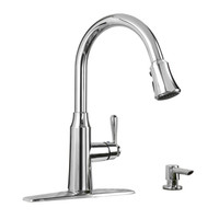 Shop American Standard Soltura Polished Chrome 1-Handle Pull-Down Kitchen Faucet at Lowe's