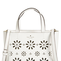 Kate Spade New York 'Faye Drive - Small Hallie' Perforated Leather Crossbody Bag LAVELIQ