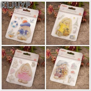 KLJUYP Baby Bear Transparent Clear Silicone Stamp/Seal for DIY scrapbooking/photo album Decorative clear stamp sheets