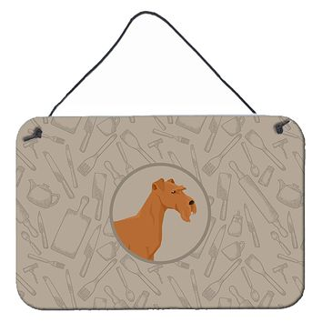 Irish Terrier In the Kitchen Wall or Door Hanging Prints CK2193DS812