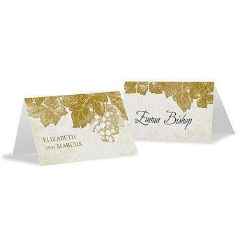 A Wine Romance Place Card With Fold Berry (Pack of 1)