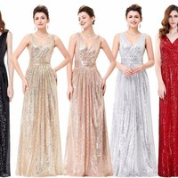 Sequins Long Formal Dress Evening Gown