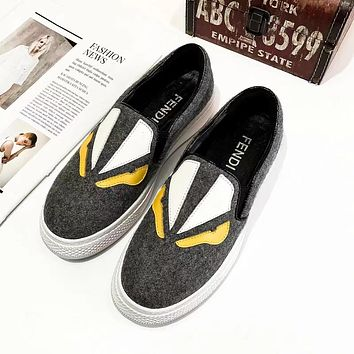 FENDI Fashion shoes Little monster Lok shoes