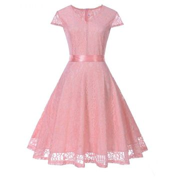 V-neck Lace Pink Short Bridesmaid Dresses Wedding Party Dress Prom Gown Women's Fashion women Clothing
