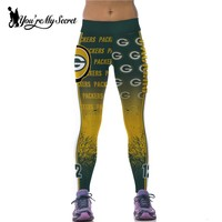 Green Bay Packers  Fitness Leggings Women High Waist Workout Legging