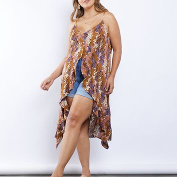 Plus Size Rebecca High Low Tank