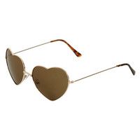 Heart Shaped Aviator Sunglasses | Shop Accessories at Wet Seal
