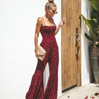 Xenia Smocked Bell Bottom Jumpsuit