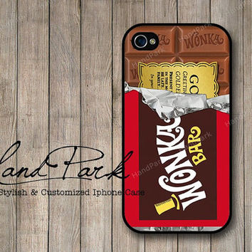 Golden Ticket Willy Wonka iPhone 4 Case, iPhone 4s Case, iPhone Case, iPhone hard Case